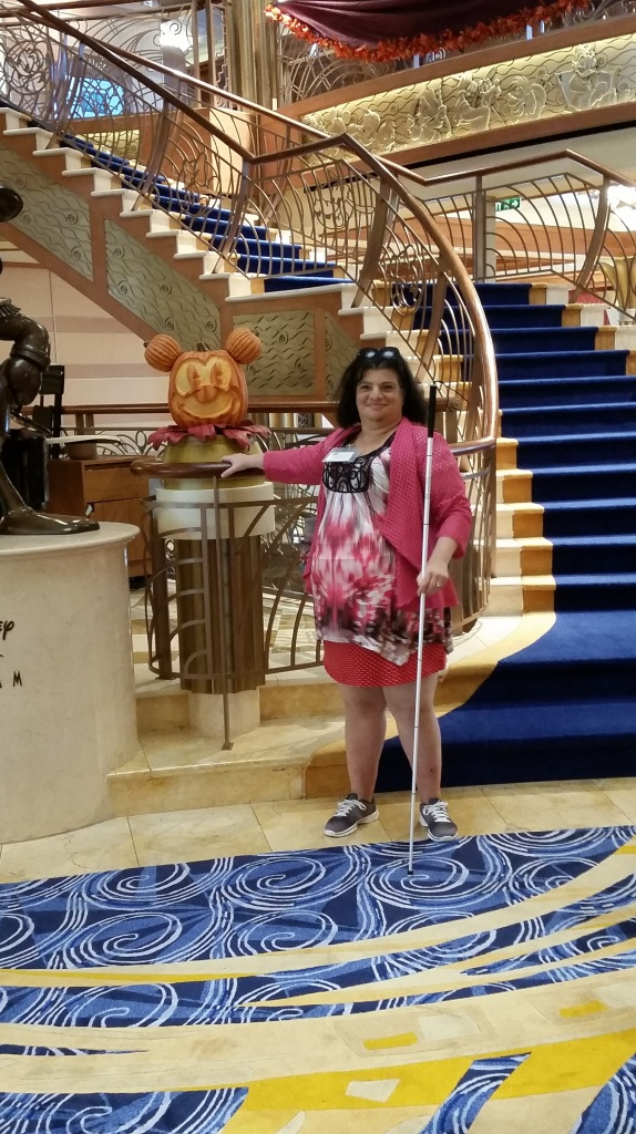 Cheryl Echevarria on the main deck of Disney Dream Cruise Lines