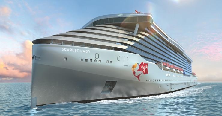 rendering of the Virgin Voyage ship - Scarlet Lady